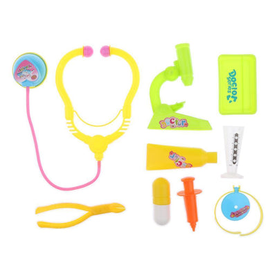 9-Piece Plastic Doctor Medical Kit - Pretend Play Set for Kids Boys Girls