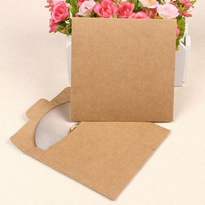 3x50 CD DVD Kraft Sleeves Packaging Case Disc Paper Bags Gifts Boxes Scrapbook