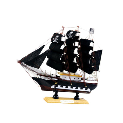 Nautical Mini Wooden Handicrafts Rudder Sailing Boat Home Display Gift 2&3