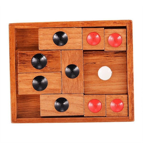 Wooden Sliding Block Puzzle Teaser with a An Advanced Puzzle for Adults B8G4