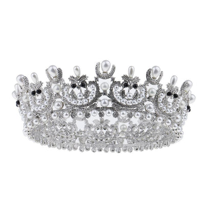Baroque Wedding Bridal Crystal AAA Zircon Crown Tiara Headband Hair Decor
