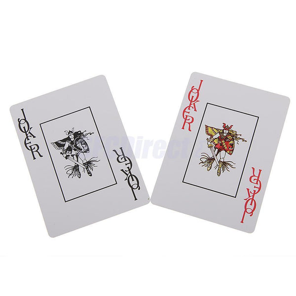 Jumbo Index Plastic Poker Deck Waterproof Poker Standard Size Playing Cards