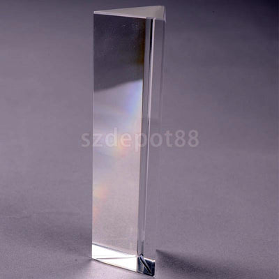 6 inch Optical Glass Triangular Prism Children Physics Science Learning Aid