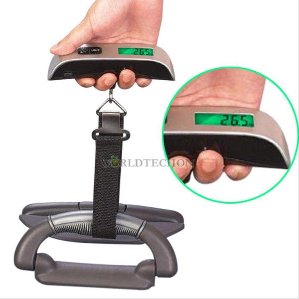 50kg/10g 110Lb Portable LCD Digital Hanging Travel Bag Luggage Electronic Scale