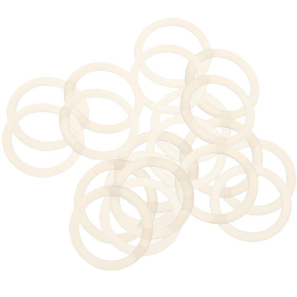 20pcs Silicone Safe Silicone for Baby Nipples Pacifier Holder Clip Ring Set