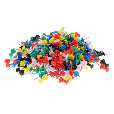 400 Pieces Multi-Colored Push Pins for Map and Cork Notice Board