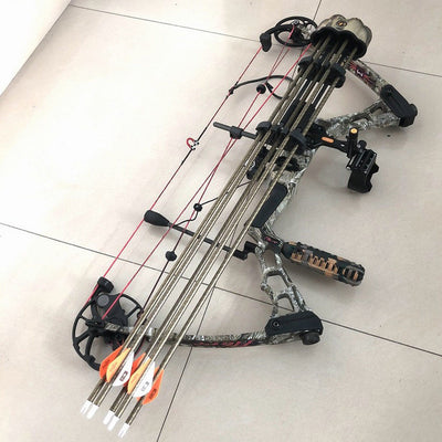 Portable Camo Quiver 5 Archery Hunting Arrows Compound Bow Holder Outdoors