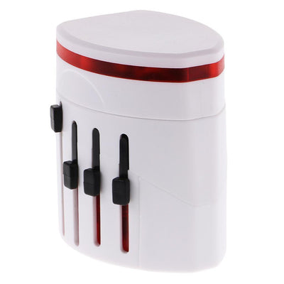 International World Travel Adapter 2 USB Wall Charger Universal Plug White