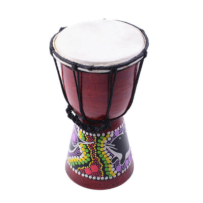 Cherry Small Djembe Bongo Tabour Tambourine 4 inch Djembe for Drummer