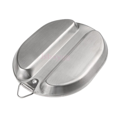 Portable Stainless Steel Mess Kit Outdoor Camping Lunch Box Food Container