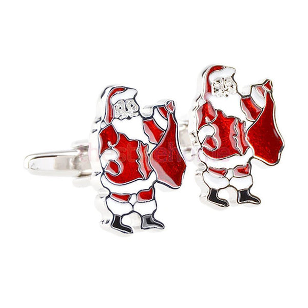 MagiDeal 4 Pairs Christmas CuffLinks Mens Cuff Links Holidays Gift Santa