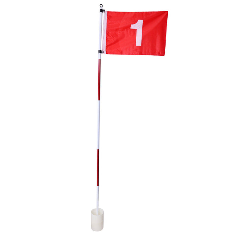Flag Stick & Cup Backyard Practice Training Aid Portable 5 Section Flagstick