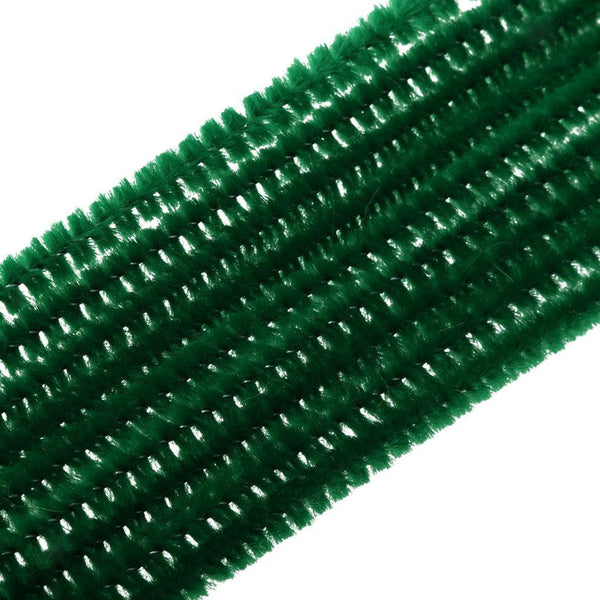 MagiDeal 100pcs Chenille Stems Pipe Cleaners Kids Twist Rods Brown & Green