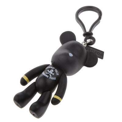 1x Bear Cub Key Ring Keychain with Lobster Clasp Bag Decor Ornament Black