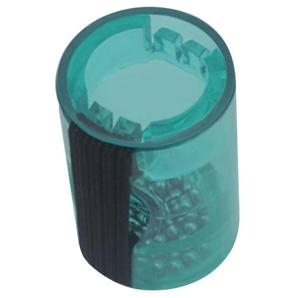 1pc Acrylic Sand Shaker Hammer Music Rhythm Finger Ring 1.49x0.98inch Green