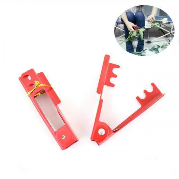 Red Flower Rose Thorn Leaf Stripper Thorn Remover Tool for Home Garden DIY