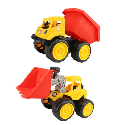 2Pcs Plastic Colorful Construction Die-cast Beach Toys Kids Birthday Gift
