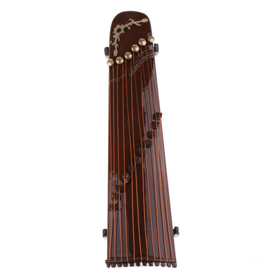 16cm Wooden Guzheng Chinese Zither Plucked Instrument with Box and Stand