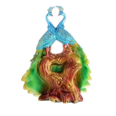 2 Peacocks Colorful Feather Dance Novelty Gifts for Valentines Lover's Gifts