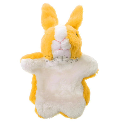 Collectible Plush Bunny Design Hand Puppet for Preschool Learning Aid Yellow