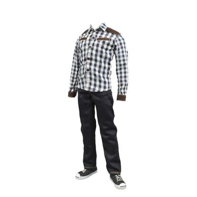 "1:6 Scale Blouse Jeans Canvas Male Clothes Outfit for 12"" Action Figures"