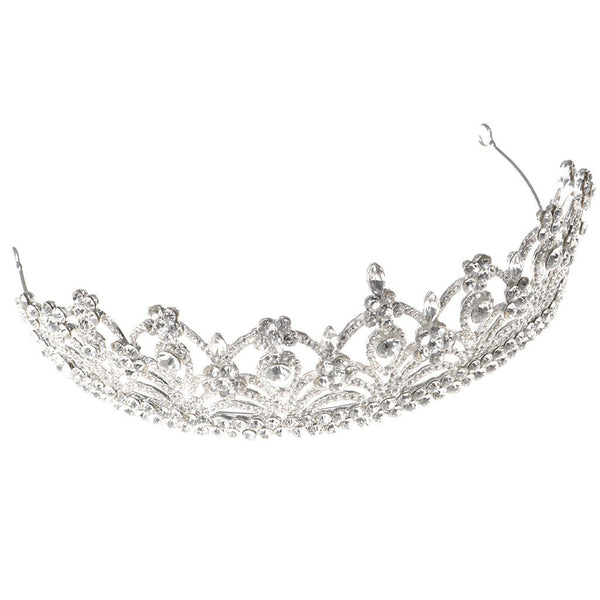 MagiDeal Rhinestone Tiaras Crown Princess Flower Girls Women Party Wedding
