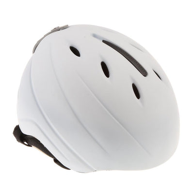 Lightweight Ski Snowboard Helmet Men Women with Detachable Earmuffs White