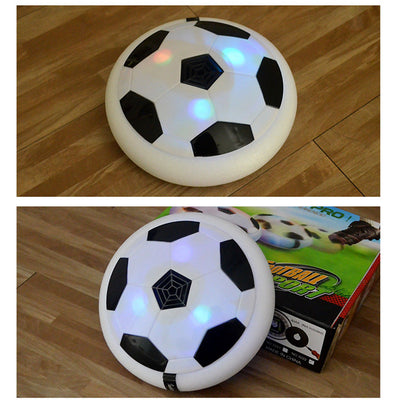 LED Flashing Air Power 14cm Suspension Soccer Disc Kids Indoor Game Toys