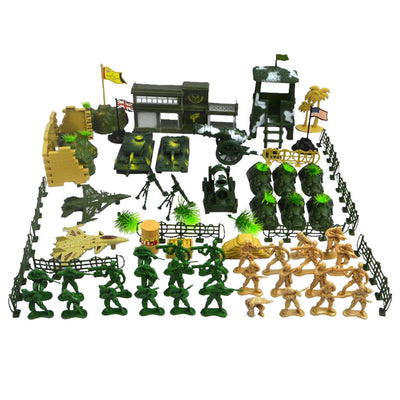 Action Figures Army Men Soldier Military Playset with Scaled Vehicles 90pcs
