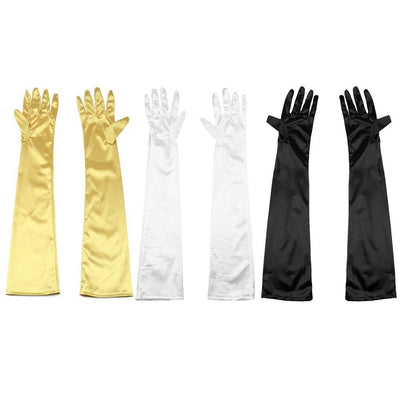 3Par Women Long Satin Gloves Opera Costume Bridal Party Prom Wedding Glove