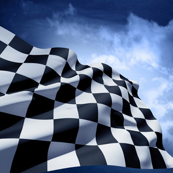 Checkered Racing Flag Black White Racing Pennant Race Car Party Accessories