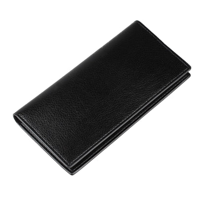 Woerfu Men's Long Business Faux Leather Wallet Credit Cards Holder (Black) D9Z2
