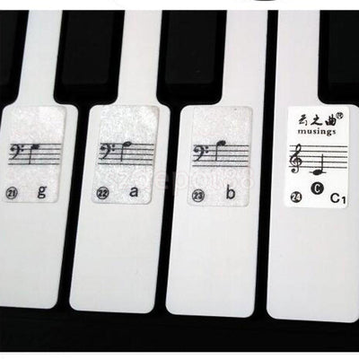 Piano Keyboard 49/61Keys Electronic Keyboard 88Keys Stickers Label Biginners