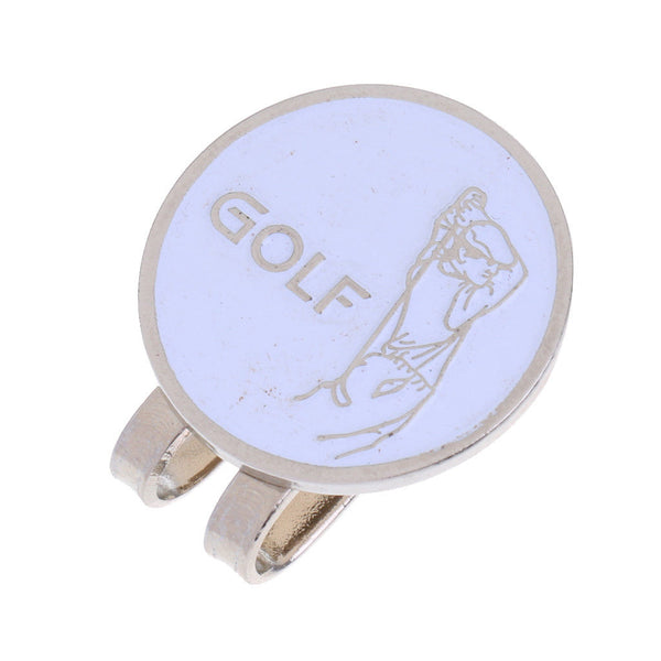 10 Pieces Alloy Golfer Smile Face Magnetic Visor Clip Golf Ball Marker Gifts