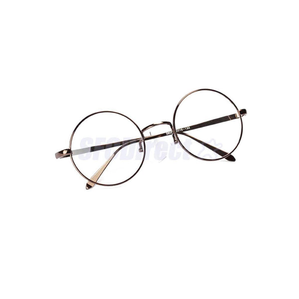 Design Men Round Metal Frame Clear Len Nerd Spectacle Eyeglasses Glasses