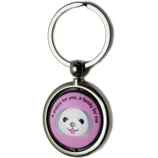 Anti-lost Dog ID Tag Keychain Wireless Locator for Pets with a QR Code