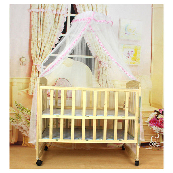 Baby Mosquito Net Canopy Netting Toddler Crib Bed Cot Nursery Drape Dome I9J3