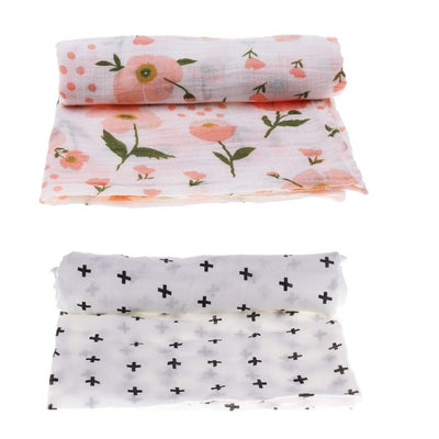 2 x Newborn Toddler Swaddle Wrap Bamboo Fiber Blanket Sleeping Bedding Cover