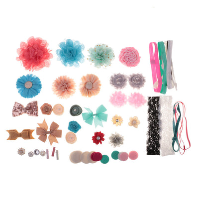 Baby Shower Games Party Supplies Headband DIY Baby Girl Hair Bow Making Kits