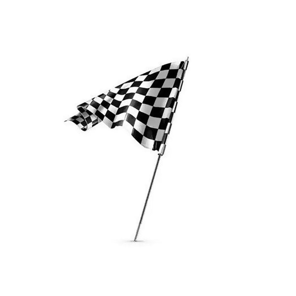 Racing Black White Chequed Starting End Banner Flag 60x90cm Lattice Flag