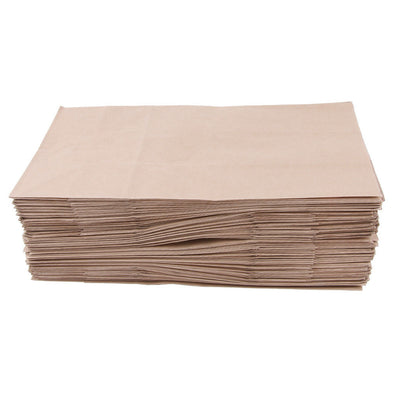 100 Pcs Kraft Paper Food Packing Bag Takeaway Takeout Bakery 15x9x27cm