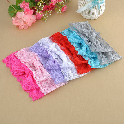 Wholesale 7pcs Kids Girl Baby Lace Headband Toddler Bow Flower Hair Band