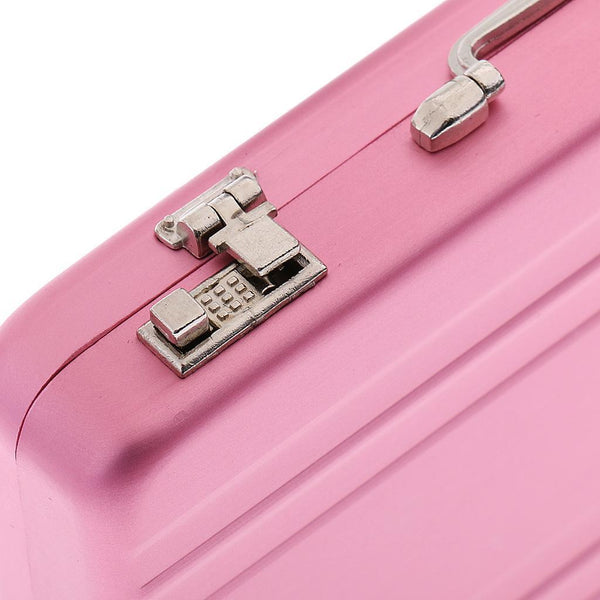 Pink Aluminum Alloy Business ID Credit Card Wallet Holder Case Box Suitcase