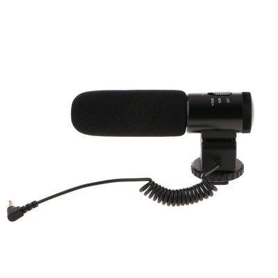 MIC-02 External 3.5mm Stereo Mic Microphone for Canon Nikon DSLR Camera DV