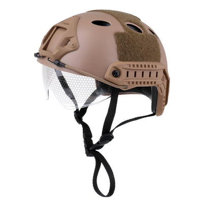 Tactical Fast Helmet Outdoor Multi-function Cycling Safety Helmet Khaki