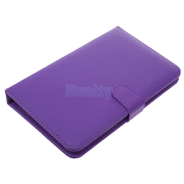 Universal Wired PC Keyboard Holster Flip PU Case Cover For Cellphone Purple