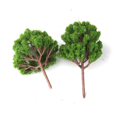 20x Light Green Models Tree for Railway Garden Diorama Architecture Build