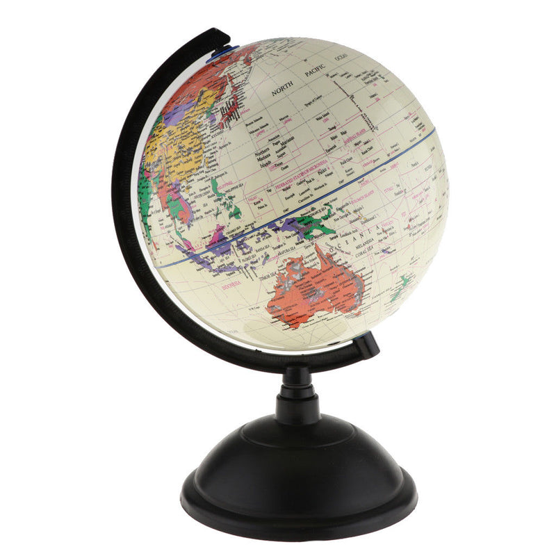 Spinning Interactive World Globe Educational Learning Toys Kits White 30cm H