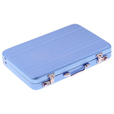 1x Portable Waterproof Business ID Credit Card Wallet Holder Pocket Box Blue