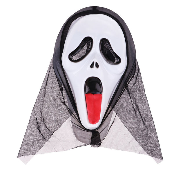Scary Ghost Scream Mask Face Hood for Halloween Masquerade Party Dress -#4